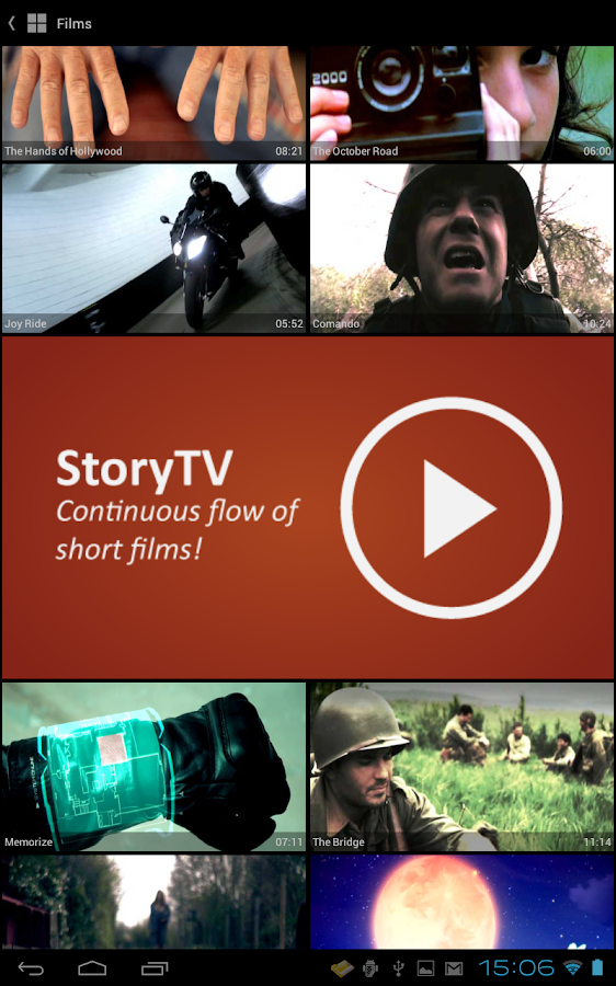 StoryPod Short Films - screenshot