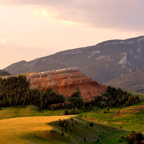 Yellowstone, WY by Dorothy Valine Gram - Landscapes Mountains & Hills (  )