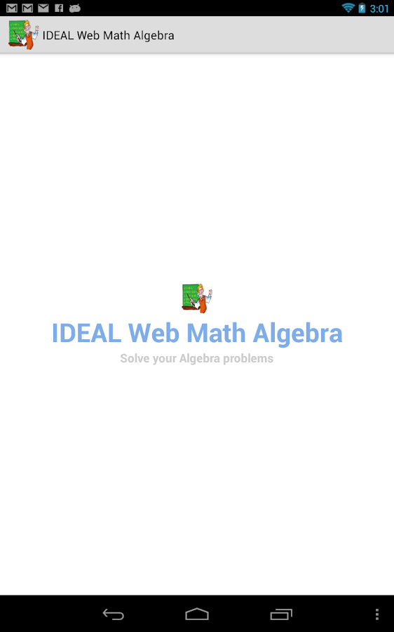 IDEAL Web Math Algebra - screenshot