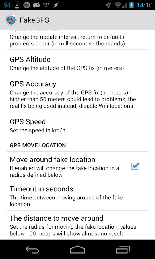 Fake GPS Go Location Spoofer- screenshot