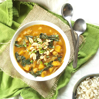 Butternut Squash, Kale and Chickpea Massaman Curry