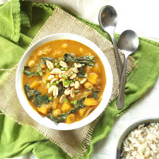 Butternut Squash, Kale and Chickpea Massaman Curry.