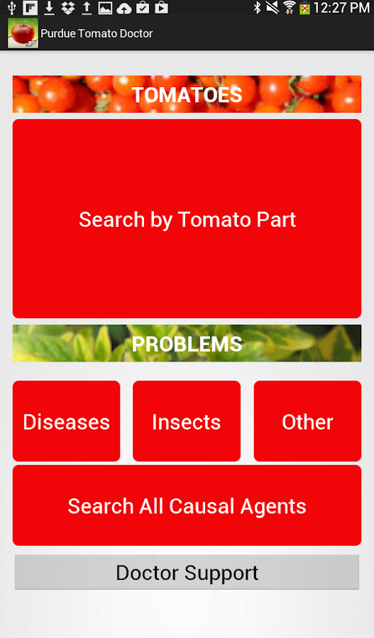 Purdue Tomato Doctor- screenshot