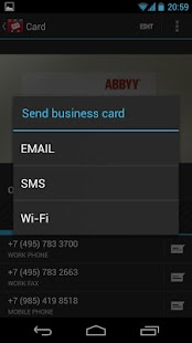ABBYY Business Card Reader - screenshot thumbnail