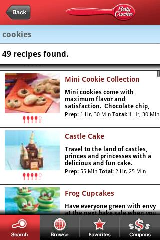 Betty Crocker® Mobile Cookbook - screenshot
