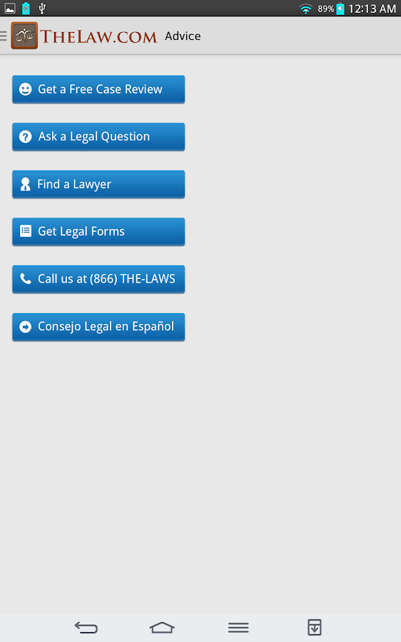 Law Guide / Dictionary - screenshot