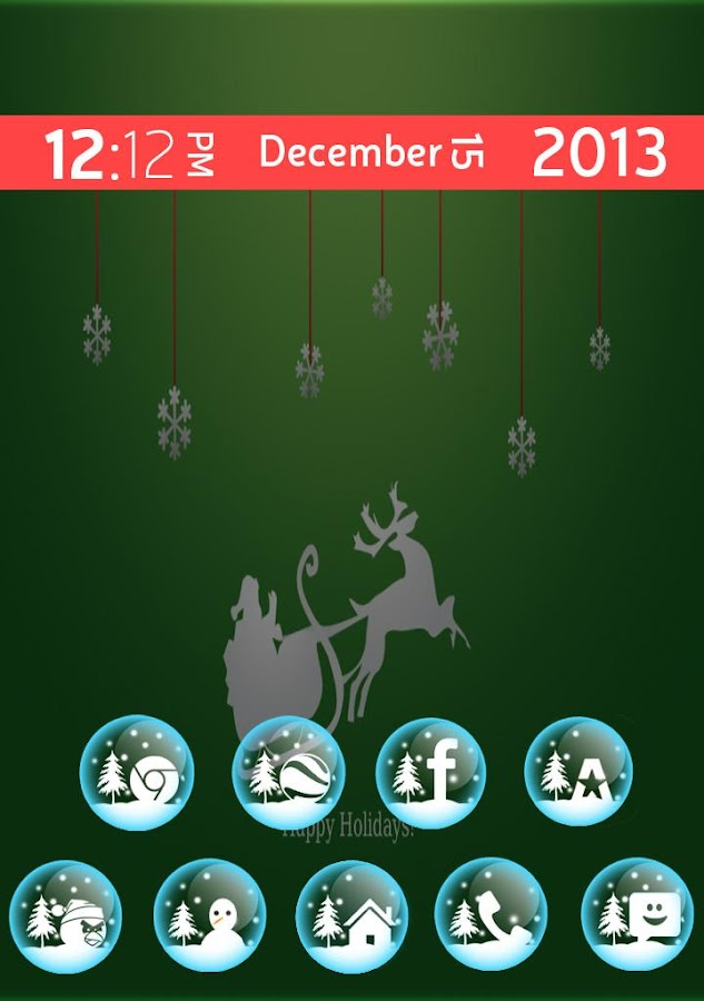 Christmas Fun Theme+Icon pack - screenshot