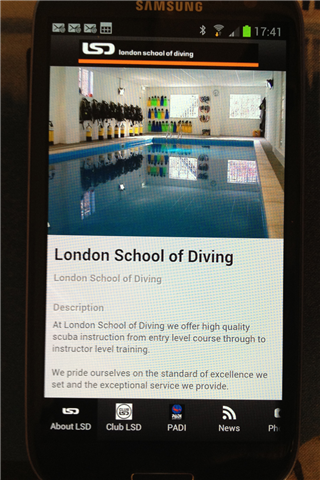 London School of Diving- screenshot