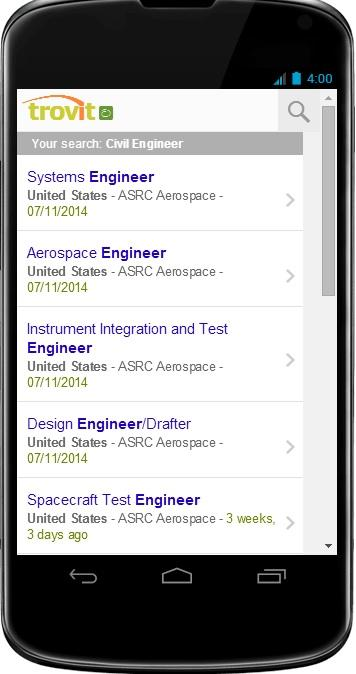 Civil Engineer Jobs - screenshot