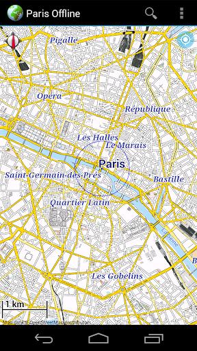 Offline Map Paris France