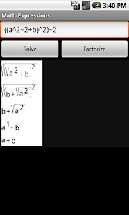 Expressions and Equations- screenshot thumbnail