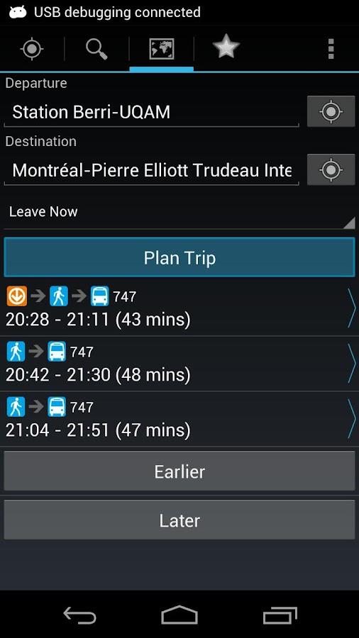 Montreal Metro & Bus- screenshot