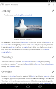Wikipedia - screenshot thumbnail