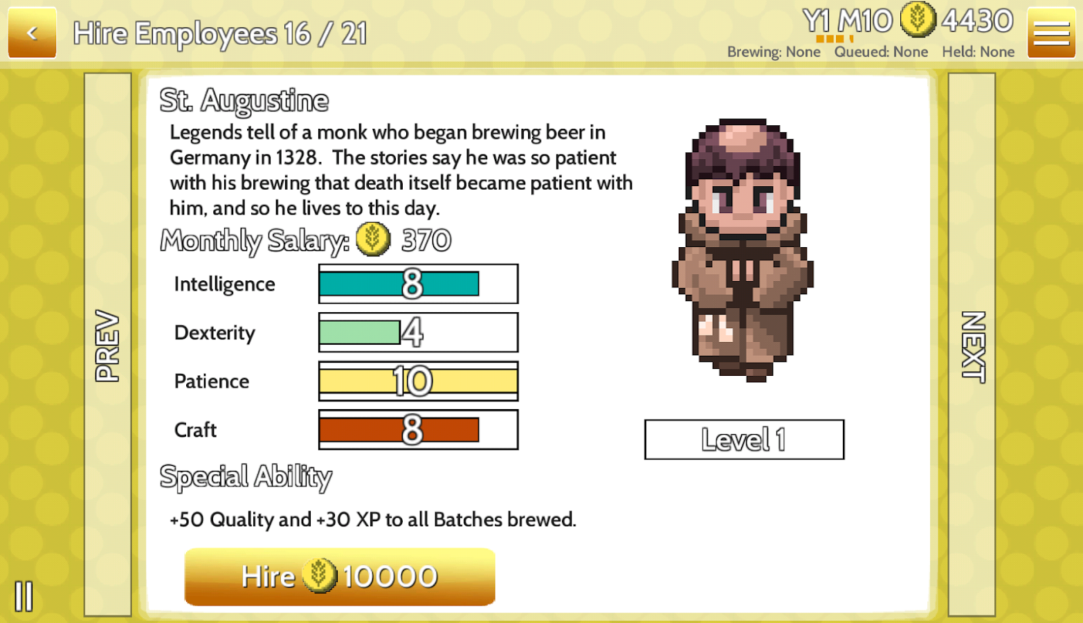 Fiz : Brewery Management Game- screenshot