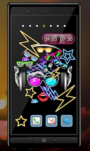 Clock Widget-MUSIC ART- screenshot thumbnail