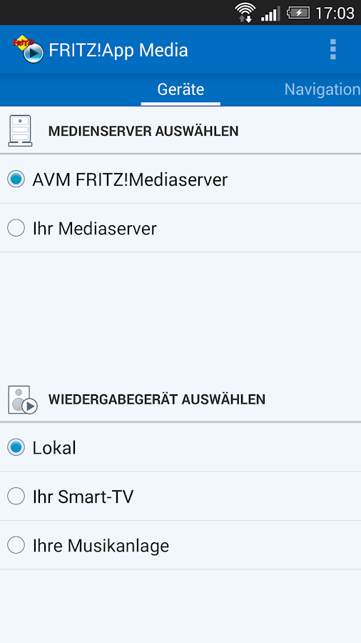 FRITZ!App Media- screenshot