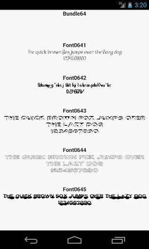 Fonts for FlipFont 64