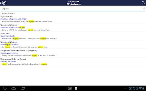 Acura iManual screenshot