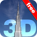 Burj Khalifa 3D Wallpaper FREE icon