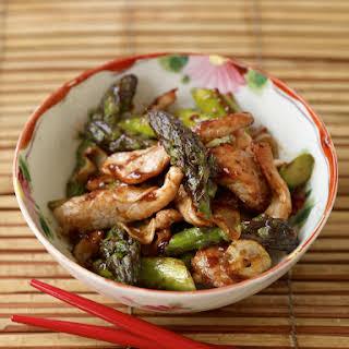 Stir-Fried Pork with Asparagus.