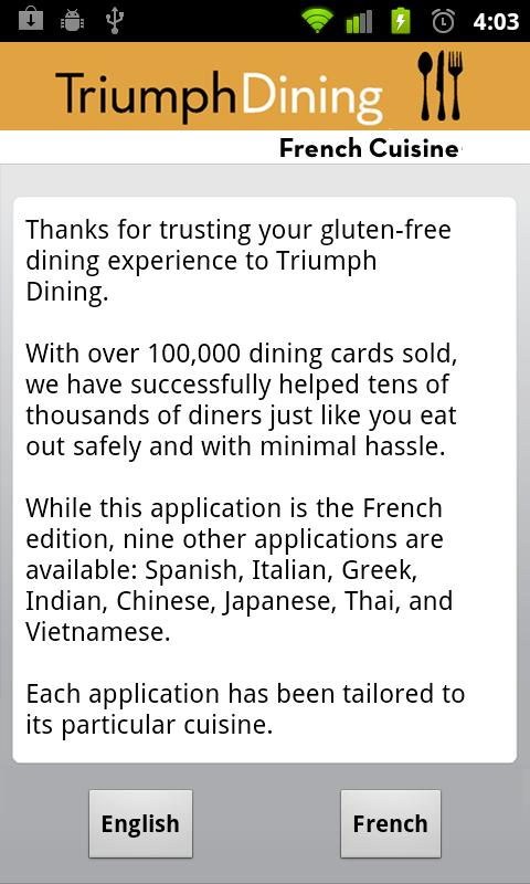 Gluten Free French - screenshot