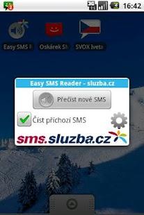 Easy SMS Reader - sluzba.cz- screenshot thumbnail