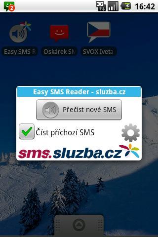 Easy SMS Reader - sluzba.cz- screenshot