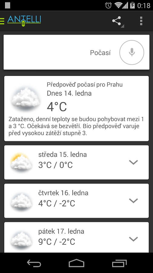 Antelli - Hlasová Asistentka- screenshot