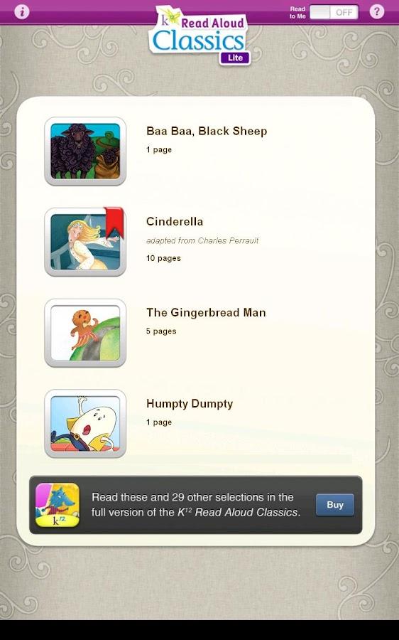 Read Aloud Stories Lite- screenshot
