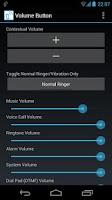 Screenshot of Volume Button