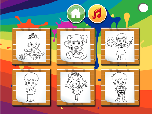 婴儿的网页游戏着色