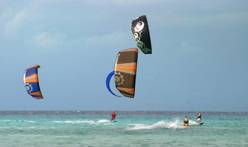 Kitesurfing near Cozumel beaches offers thrills on the water and in the air.