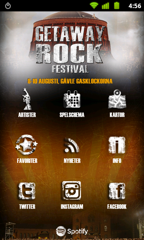 Getaway Rock Festival 2013 - screenshot