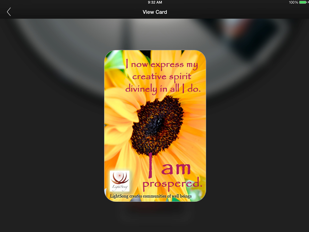 LightSong Affirmation Cards- screenshot