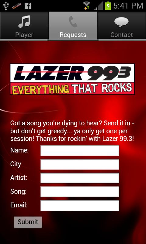 Lazer 99.3 - screenshot