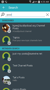 Buddycloud Demo App- screenshot thumbnail