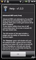 Screenshot of Advanced Wifi Lock (Free)