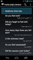 Screenshot of Pashto (Afgh.) Medical Phrases