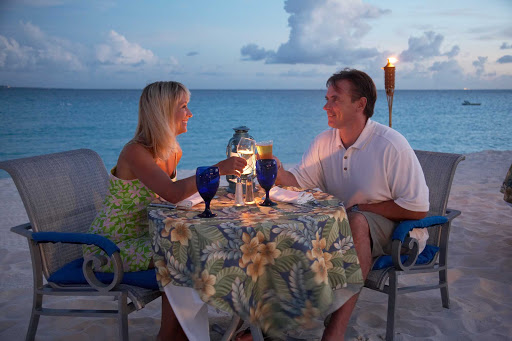 romance-dinner-Anguilla - A romantic dinner on the beach at dusk in Anguilla.