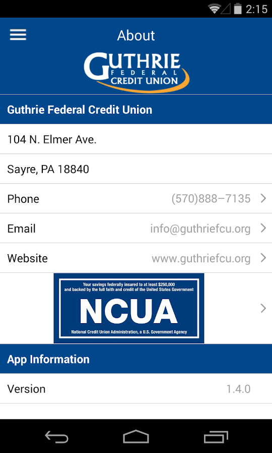 Guthrie FCU - screenshot