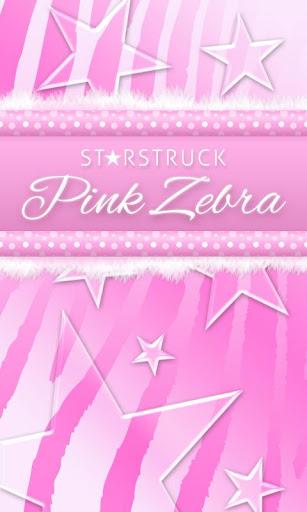 ★ Pink Zebra Star Theme Go SMS
