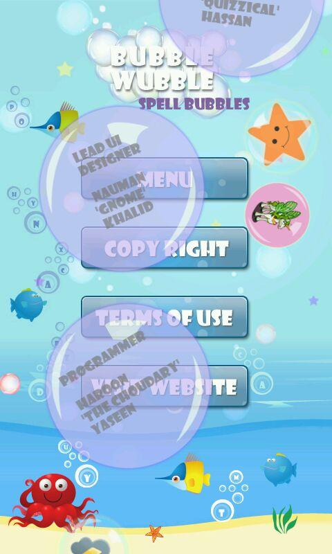 Spell Bubbles - Bubble Wubble - screenshot
