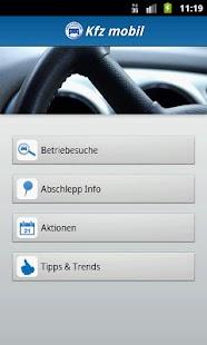 Kfz mobil Screenshot