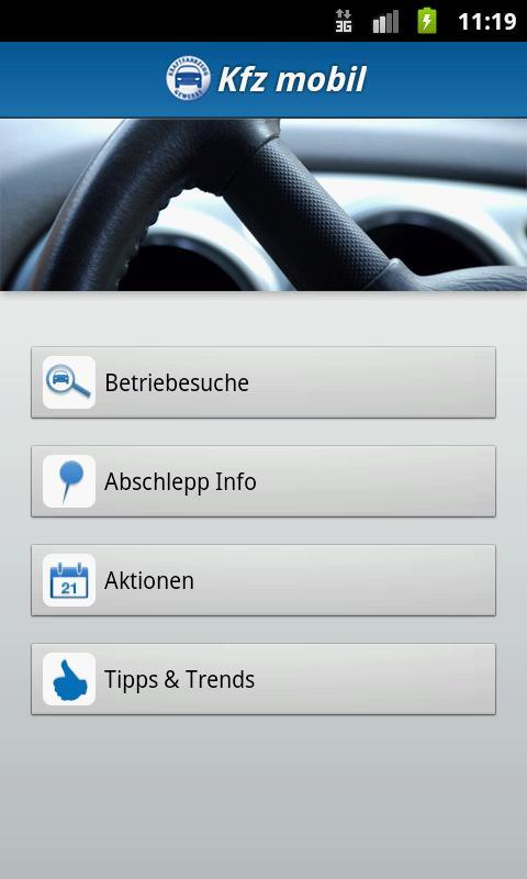 Kfz mobil- screenshot