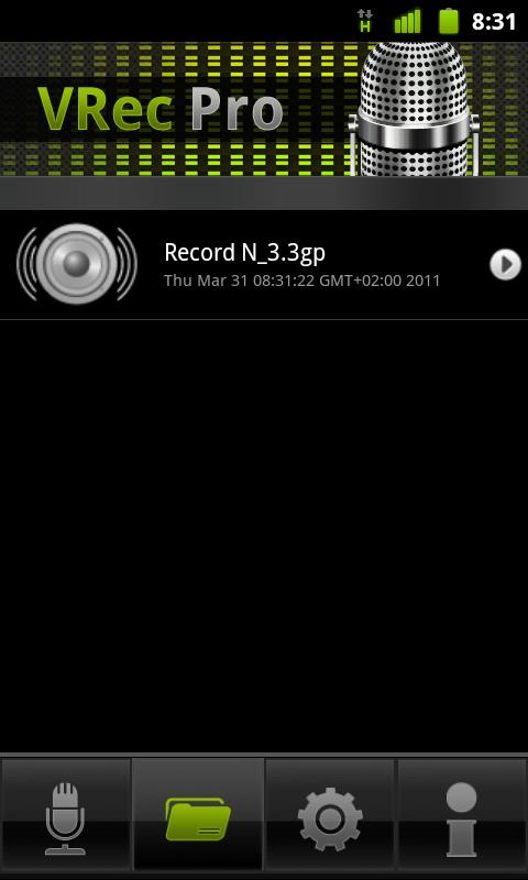VRec PRO - Voice Recorder - screenshot