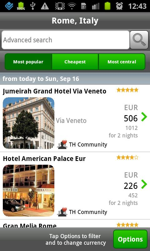 ToucHotel - Hotels, Hotel - screenshot