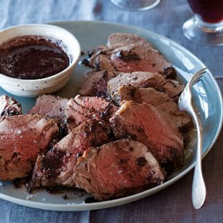 Beef Tenderloin with Shallot and Red Wine Reduction