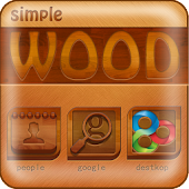 Simple wood GO Launcher Theme