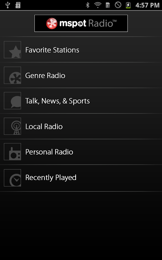 mSpot Radio™ - screenshot