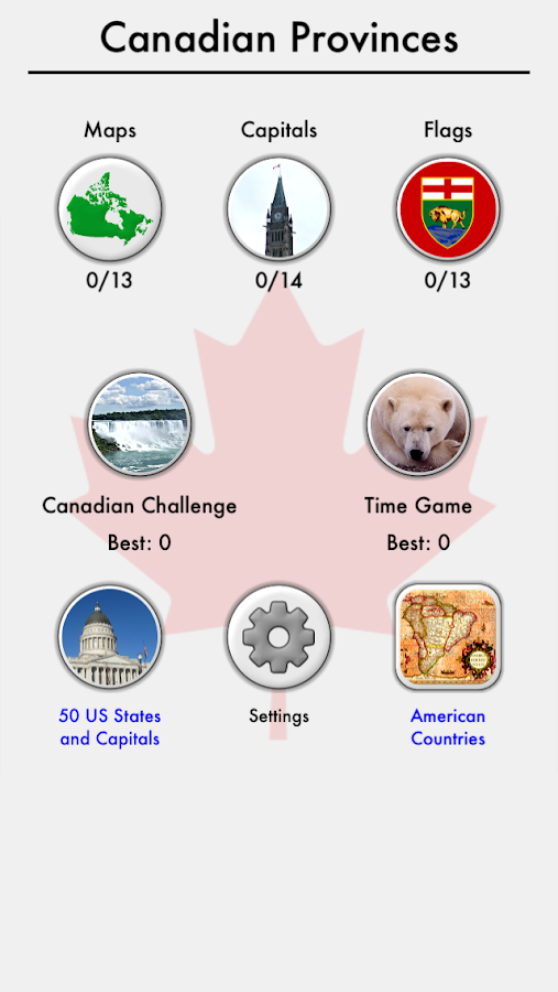 Canada Provinces Territories Canadian Quiz Android Apps on